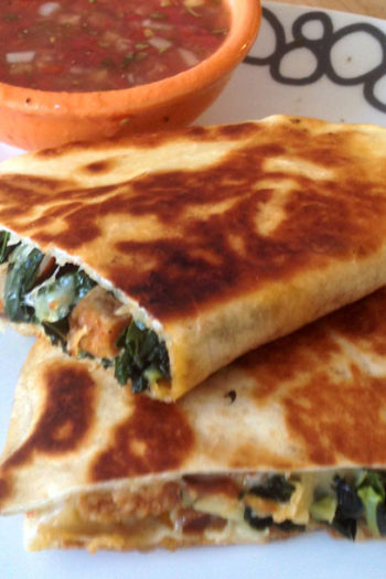 Chorizo and Kale Quesadillas