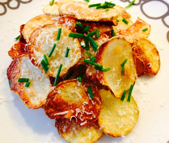 Homemade Parmesan Potato Chips - Chop Happy