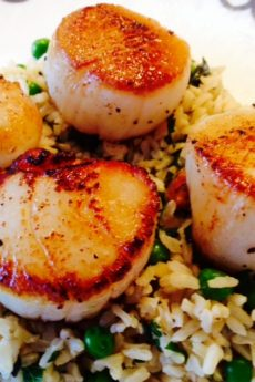 Happy Seared Scallops