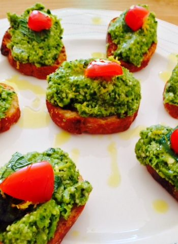 Pea Pesto Party