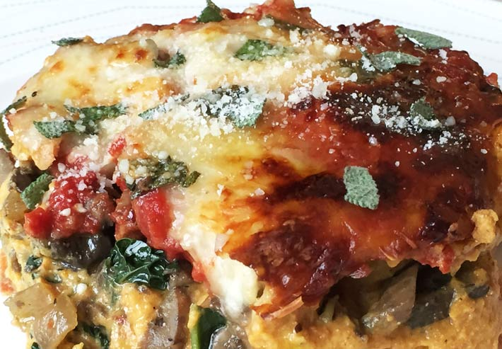 Pumpkin Kale Lasagna - Chop Happy