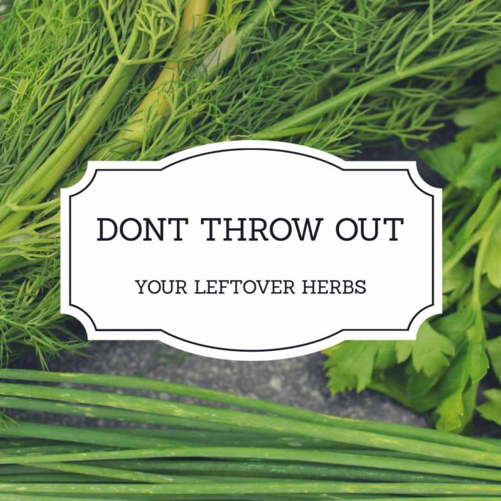 Don't Throw out Leftover Herbs - Make This