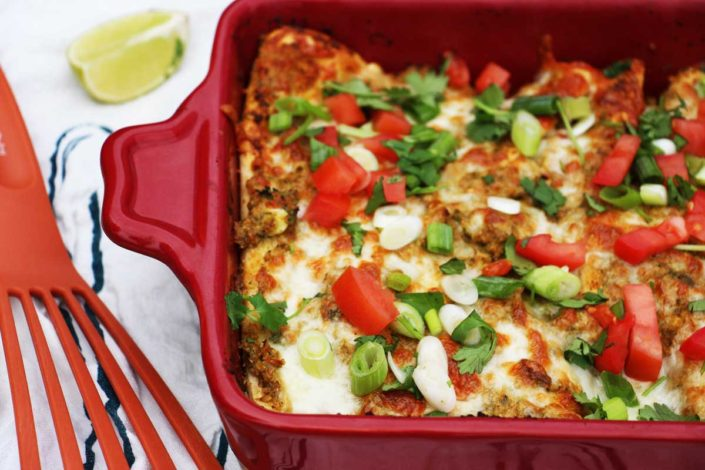Cheesy Avocado Enchiladas