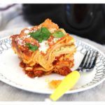Slow Cooker Lasagna that is super simple, takes 3 minutes to assemble, and you don't even need to boil noodles. Home Cook Victory! ChopHappy.com