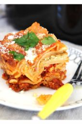 Slow Cooker Pesto Lasagna