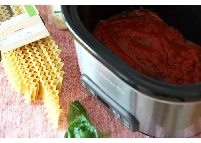 Slow Cooker Pesto Lasagna Recipe
