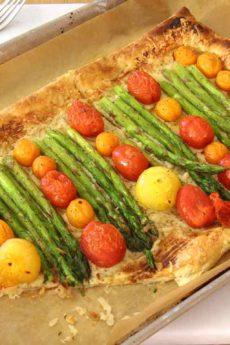 Asparagus and Gruyere Puff Pastry Pizza