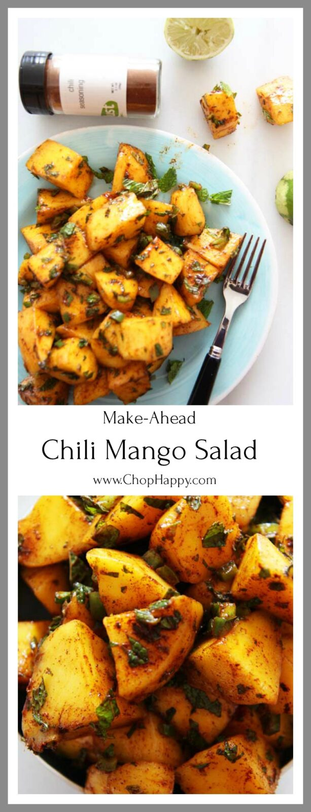 Sunshine Mango Salad Recipe is so refreshing. If your in a rush or beginner cook this recipe is for you. Its so easy to make and is sweet, smokey, and a hint of spice.