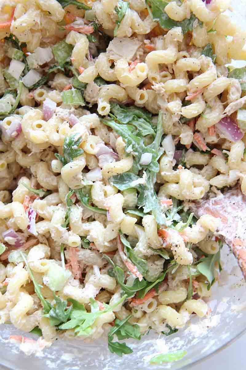 Happy tuna pasta salad chop happy for Tuna fish pasta
