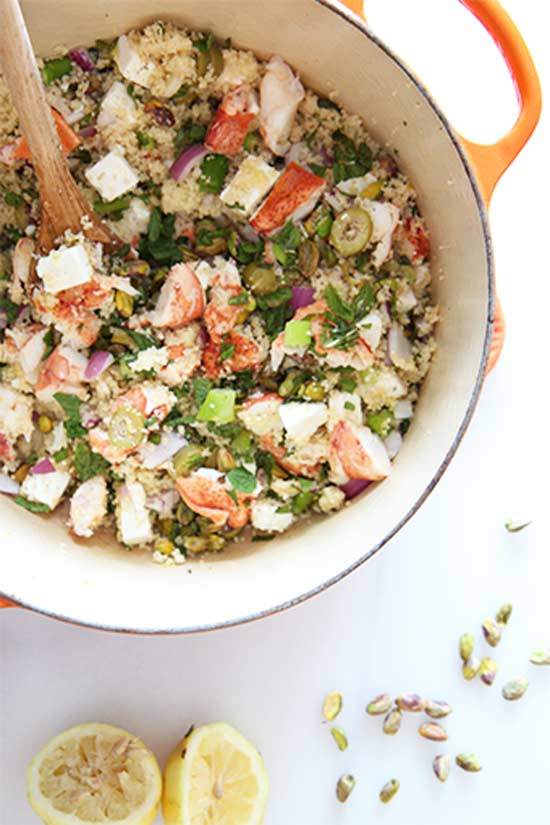 Lobster Couscous Salad (10 minute recipe)
