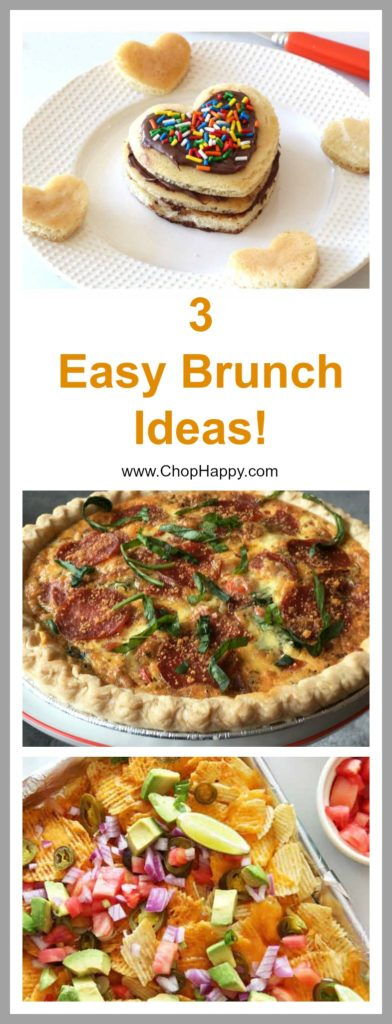 3 Easy Brunch Recipes - that are make ahead cheesy, and fun. www.ChopHappy.com