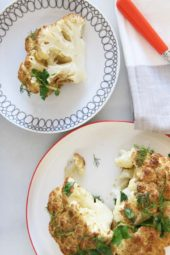 Easy Roasted Dijon Cauliflower (easy happy recipe)