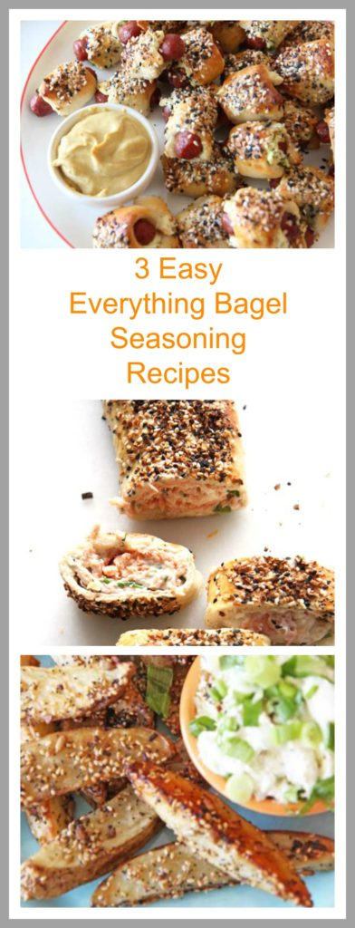 3 Everything Bagel Seasoning Recipes that are super easy, and are your reward for being awesome! www.ChopHappy.com,