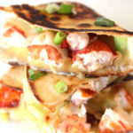 Lobster Quesadilla Recipe that is so juicy, cheesy, and decadent. This is a great recipe to impress someone you love. www.ChopHappy.com