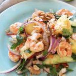 Asian Shrimp and Pineapple Salad Recipe. Easy make ahead easy. This recipe is easy #comfortfood