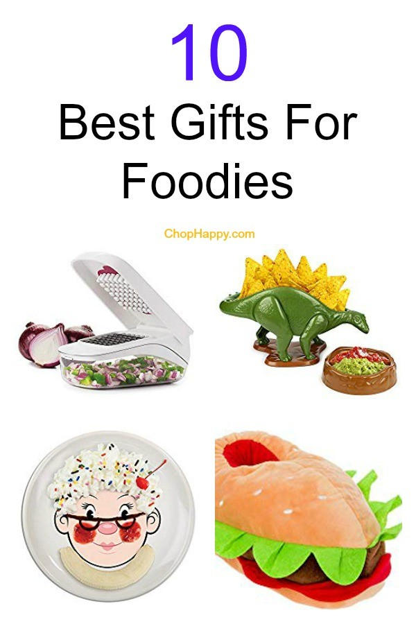 10 Best Gifts For Foodies for the Holidays. Now you know what gift to get for Christmas, Birthday, or Hanukkah. Here are the perfect holiday gift for food lovers. www.ChopHappy.com #FoodieGift #ChristmasGift