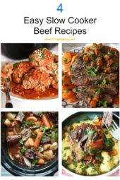 4 Easy Slow Cooker Beef Recipes