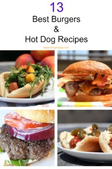 13 Best Burgers and Hot Dog Recipes that are so easy. Grab your beef hot dog, juicy burger, and all the toppings. We created brown butter burger, blt hot dog, spicy burger with jack cheese, and other favorites. Happy Grillinfg! www.ChopHappy.com #burger #hotdog #grillingrecipe
