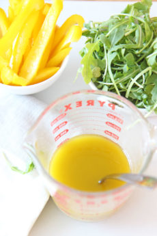 Easy Apple Cider Vinaigrette. Happy easy bright salad dressing is minutes away. You can use this recipe to marinade chicken, steak, or veggies. Hope this salad dressing recipe is your new go to! Happy Cooking! #applecider #saladdressing