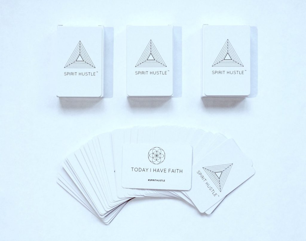 5 Ways To Add More Gratitude In Your Life . This is the Spirit Hustle by Charles Chen. You pick a card and an inspirational message declares your day. #gratitude #spirithustle