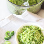 How to Make Broccoli Rice. Broccoli is sweet and hearty and makes awesome fried rice or rice side dish. Happy Cooking! www.ChopHappy.com #howtomakebroccolirice #broccolirice