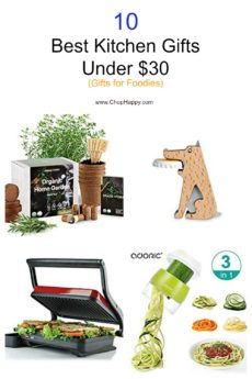 10 Best Kitchen Gifts Under $30 (Gifts for Foodies). Christmas, Hanukkah, birthday, or just because. Thease are the perfect gifts for a home cook. #kitchentools #foodiegift