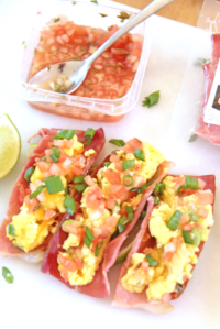 Breakfast Tacos with Ham Shell!