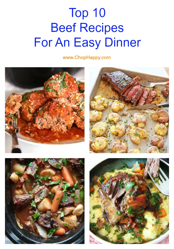 Top 10 Beef Recipes For An Easy Dinner