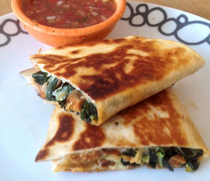 Chorizo and Kale Quesadillas