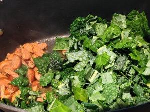 Chorizo and Kale Quesadillas Preparation