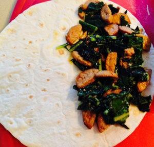 Chorizo and Kale Quesadillas Assembly