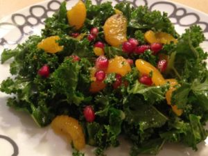 Citrus Kale and Pomegranate Salad
