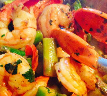 Under 10 Minutes Shrimp and Asparagus