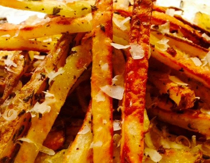 Crispy Cheesy Oven Fries