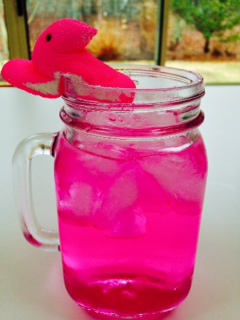 Pretty in Pink Peeps Cocktail