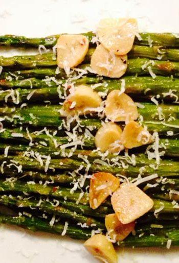 Roasted Garlicky Asparagus
