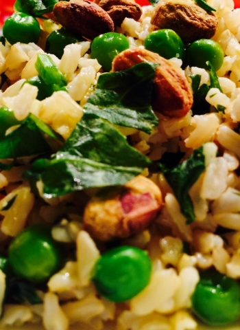 Crazy Rice (Herby Pistachio and Pea Party)