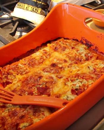 Magical Frozen Ravioli Lasagna