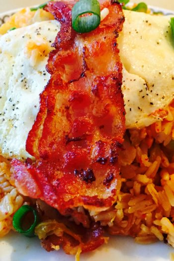 Kimchi and Bacon Fried Rice