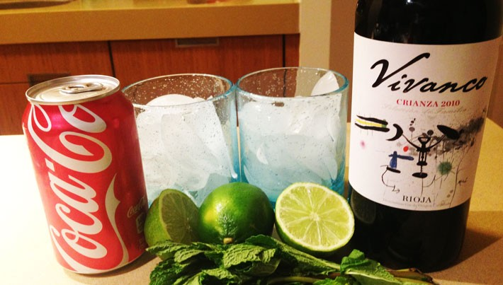 Spanish Wine and Cola Cocktail