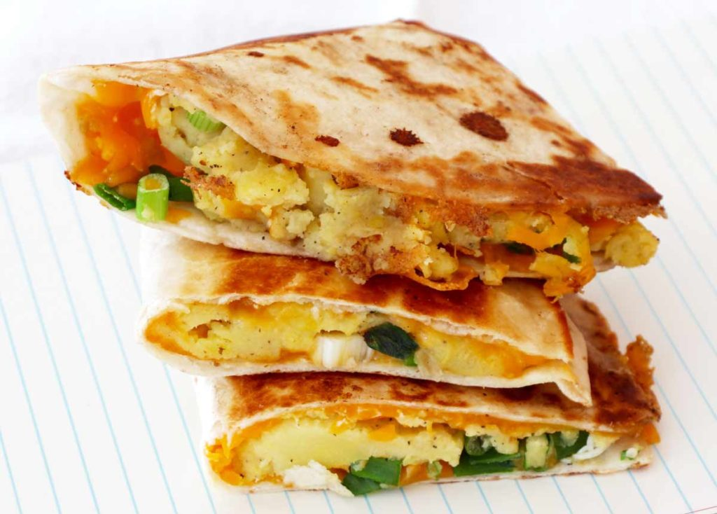 Mashed Potato Quesadillas Recipe. Quick and creamy dinner recipe.
