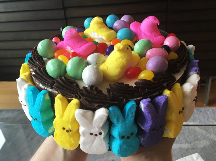 No Bake Peeps Cake Recipe. ChopHappy.com