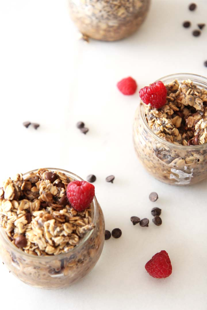Wake up to the breakfast made by your refrigerator. Serving you coffe and breakfast in one. Chocolate Espresso Overnight Oats Recipe . ChopHappy.com,