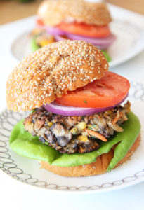 Veggie Burger Recipe. This will convert any meat eater to the veggie side. The beefy portobello, creamy crushed chick peas, and the zesty spices makes a perfect easy burger. Best part it takes 10 minutes to make. ChopHappy.com. #thebestveggieburger #veggieburger #burger