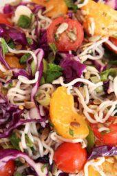 Lemony Crunchy Ramen Noodle Salad