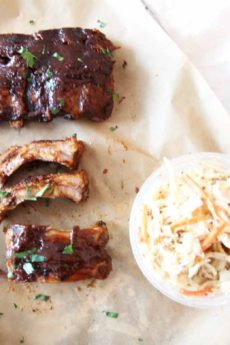 Slow Cooker BBQ Ribs (fall off the bone delish)