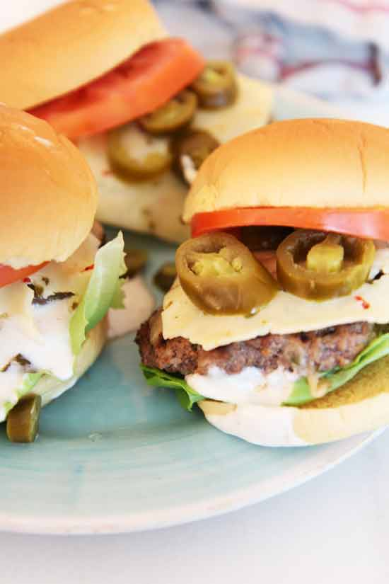 Ultimate Spicy Cheese Burger Recipe. There are only a few ingredients that make this burger recipe spicy, beefy, delicious. Perfect quick burger recipe. ChopHappy.com