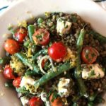 Summer in Paris French Lentil Salad Recipe! This is a great make-ahead simple recipe that is so yummy. If you are in a time crunch or busy mom this recipe will make you smile. ChopHappy.com