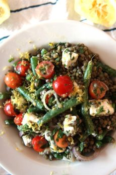 Summer in Paris Lentil Salad