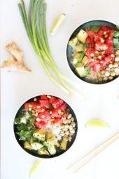 Watermelon Avocado Poke Bowl